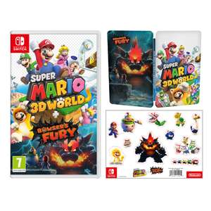Super Mario 3D World + Bowser's Fury Pack + Steelbook + Sticker sheet - Nintendo Switch Game - £49.99 - Nintendo UK Store
