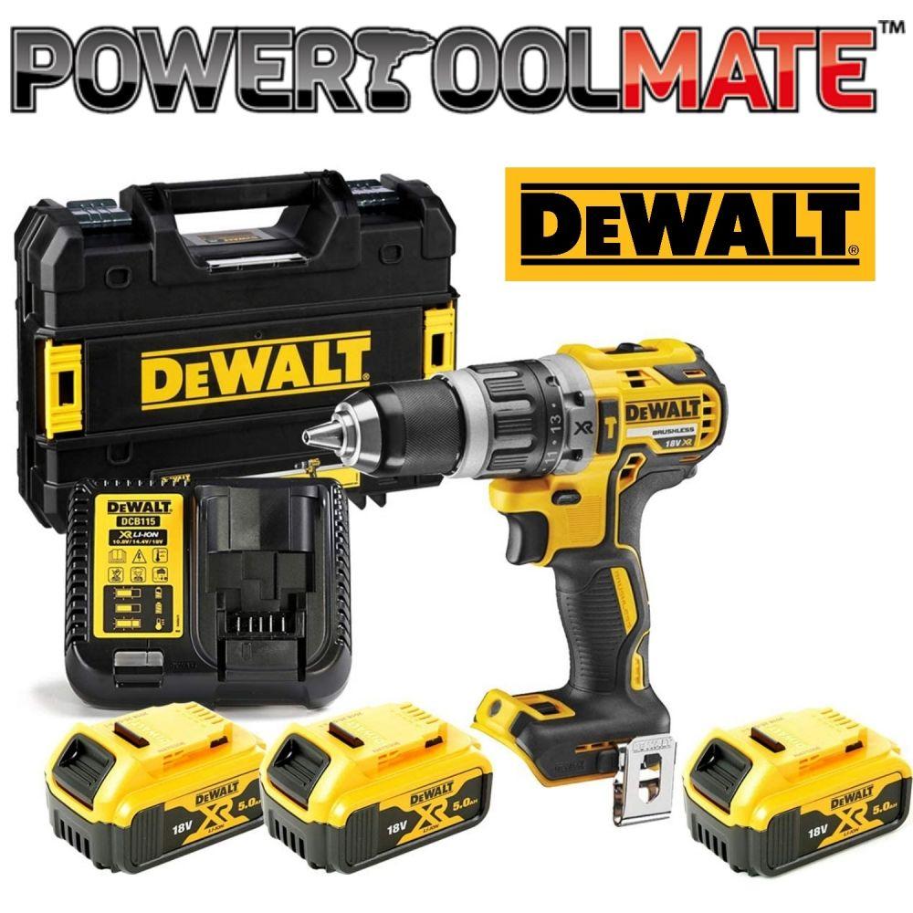 DeWalt Brushless Combi Drill Bundle - DCD796P3 DCD796N, 3 x 5.0AH Batts, Charger & Case - £199.99 Delivered @ Powertoolmate