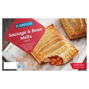 Greggs 2 Sausage & Bean Melts 308g / Greggs 2 Cheese & Onion Bakes 288g - £1 from 17/01 (+ Delivery Charge / Min Spend Applies) @ Iceland