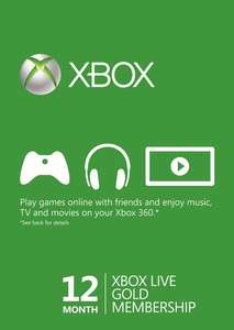 12 Month Xbox Live Gold Membership - EUROPE (EU) for £34.99 @ CDKeys