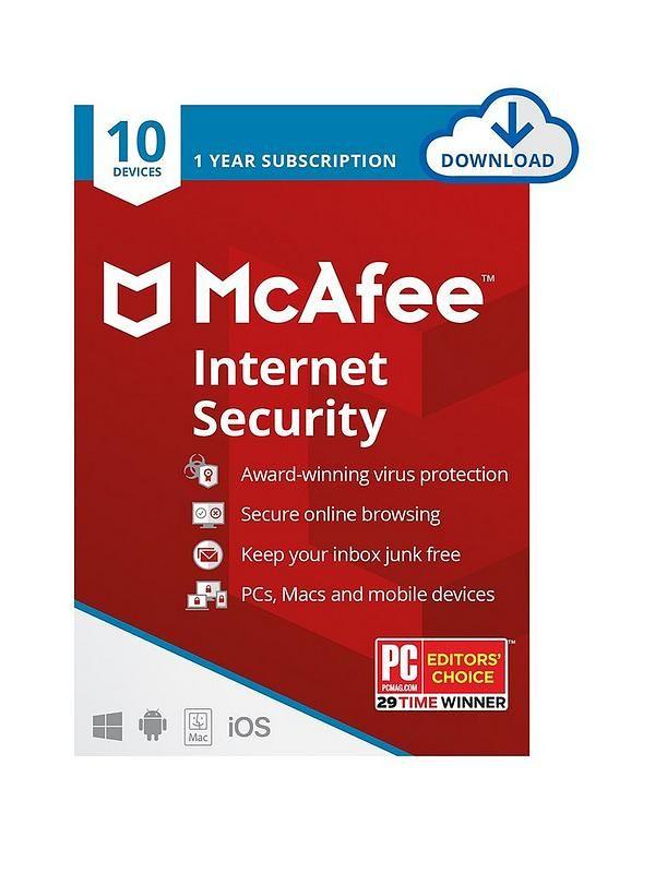 McAfee Internet Security 10 Devices (Digital Download) - £29.99 Delivered @ Littlewoods