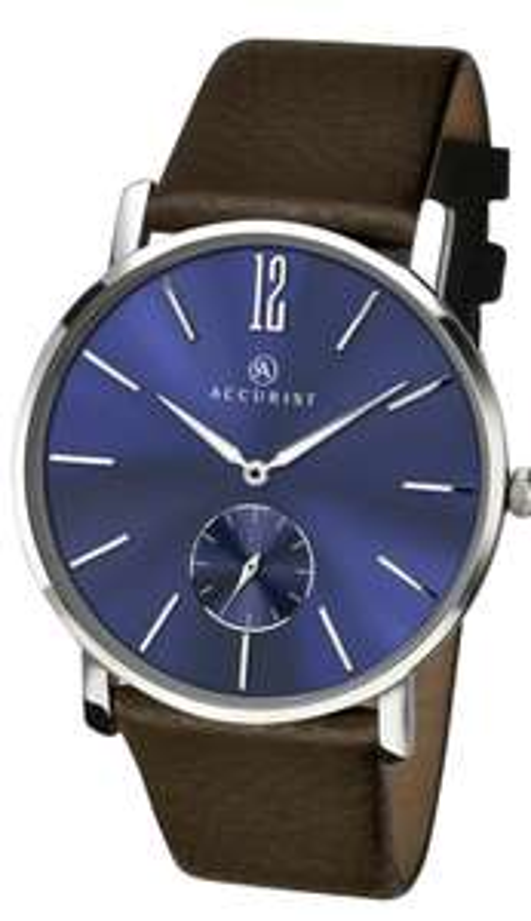 Accurist Men's Brown Leather Strap Watch £24.99 + £3.95 del at Argos