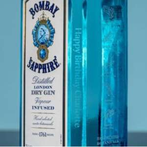 Free Engraving during January with code via Official Store at Bombay Sapphire