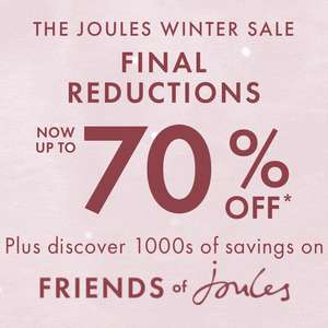 up to 70% off Winter Sale at Joules - £3.95 delivery