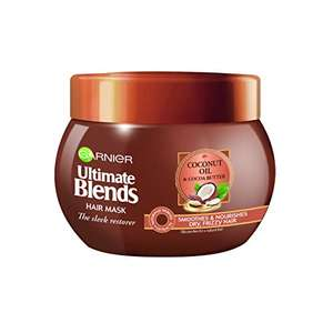 Garnier Ultimate Blends Coconut Oil Frizzy Hair Treatment Mask, 300ml £2.49 / £2.37 S&S (Prime) + £4.49 (non Prime) at Amazon