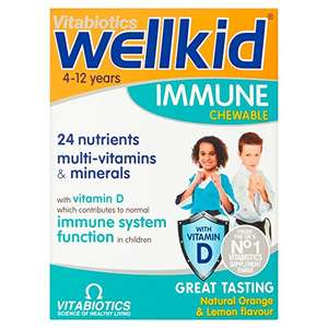 Vitabiotics Wellkid Immune Chewable, Pack of 30 - £7.49 each (+£4.49 NP & also 3 for 2) @ Amazon