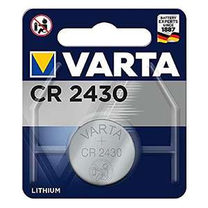VARTA Batteries Electronics CR2430 Lithium button cell 3V battery 1-pack 65p (Prime) + £4.49 (non Prime) at Amazon