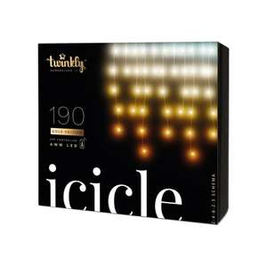 Twinkly 190 LED Icicle Lights - AWW version £83.99 free postage, White Stores