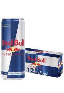 Red Bull Energy Drink 12 Pack of 250 ml - £9.75 (+£4.49 Non Prime) @ Amazon