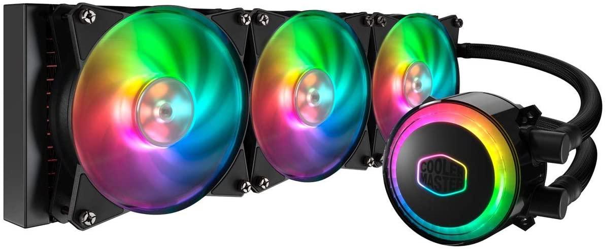 Cooler Master MasterLiquid ML360R RGB Liquid CPU cooler, ARGB lighting sync, Premium pump design,3 MF120R ARGB fans - £86.77 @ Amazon France