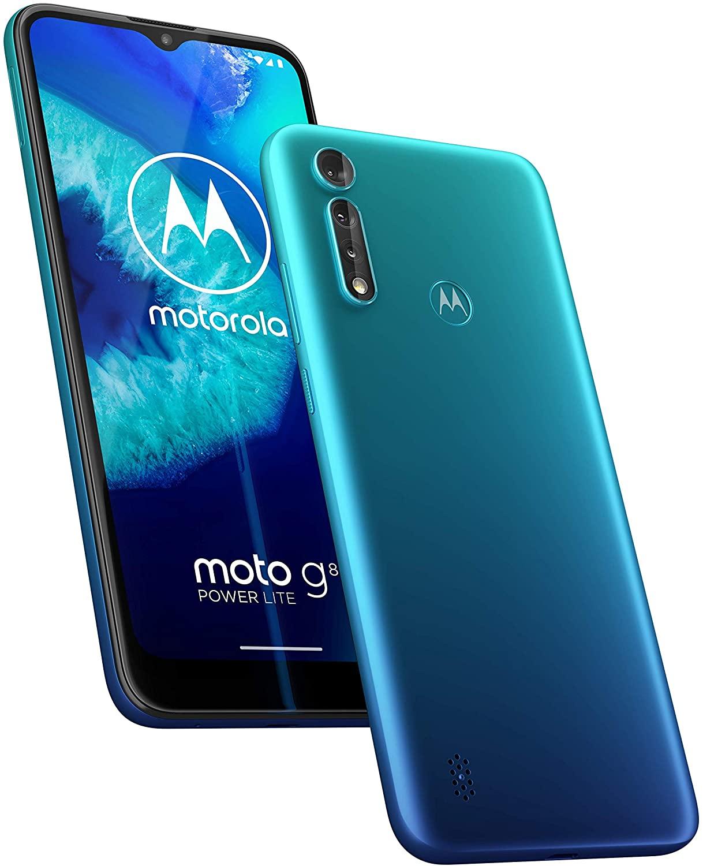 "Motorola Moto G8 Power Lite (6,5"" HD+, 2.3GHz octa-core processor, 16MP triple cam, 5000mAH, Dual SIM, 4/64GB, Android 9) - £99.99 @ Amazon"