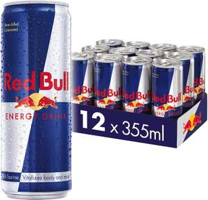 Red Bull Energy Drink 12 Pack of 355 ml - £9.99 Prime / +£4.49 non Prime @ Amazon