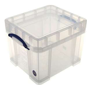 """Really Useful Storage Box 35 L XL Perfect for 12"""" Vinyl £14.99 + £3.95 delivery (£11 each if you buy 3+ Free Delivery over £40) @ Ryman"""