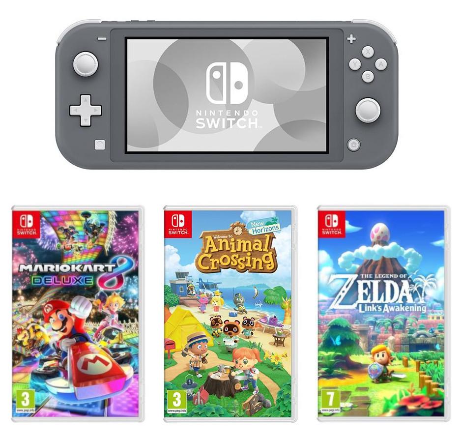 Nintendo Switch Lite & Mario Kart 8 Deluxe or Animal Crossing: New Horizons or Zelda: Links Awakening Bundle - £209 @ Currys PC World