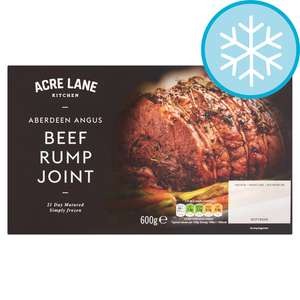 Acre Lane Aberdeen Angus Beef Rump Joint 600G £2 (Minimum Basket / Delivery Charge Applies) at Tesco