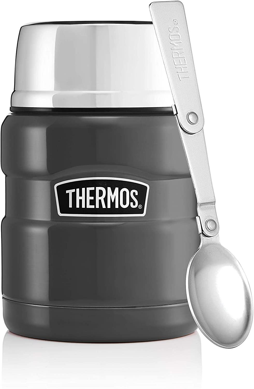 Thermos Stainless King Food Flask Gun Metal 470ml - £13.33 prime / £17.82 nonPrime at Amazon