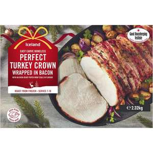 Iceland Boneless Perfect Turkey Crown wrapped in Bacon 2.32kg - £4 (Min Basket / Delivery Fee Applies) @ Iceland