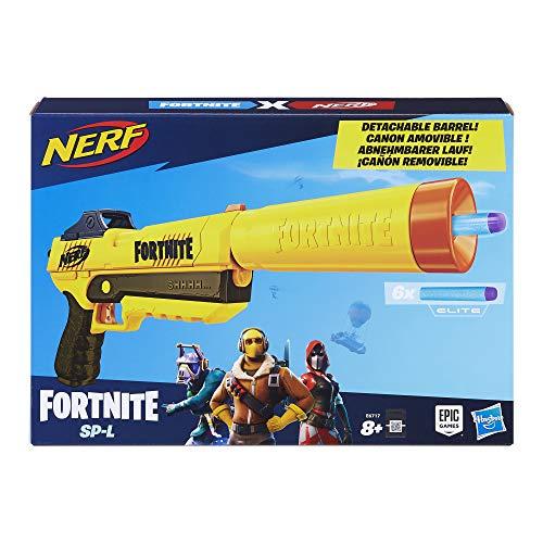Nerf Fortnite SP-L Nerf Elite Dart Blaster with Detachable Barrel and 6 Darts - £10.39 (Prime) + £4.49 (non Prime) at Amazon