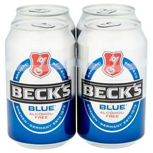 4x 0.33l Beck's Blue non-alcoholic cans - £1 instore @ Home Bargains, Cheshire
