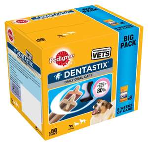 56 Pedigree Dentastix Daily Adult Small Dog for £4.99 @ Argos click & collect (Limited stock)
