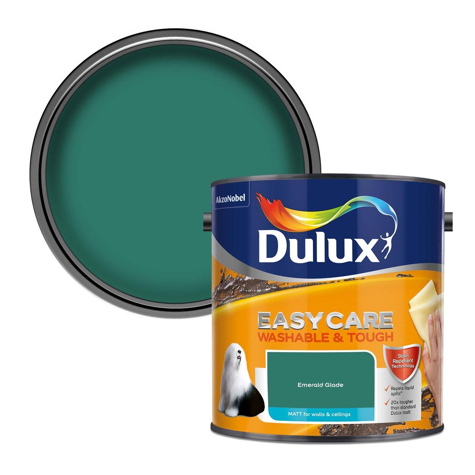 Online only 3 for 2 Dulux colour paint (e.g. Dulux Easycare Washable & Tough Emerald Glade Matt Paint 3 x 2.5L for £50 delivered) @ Homebase
