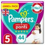 Pampers Active Fit Nappy Pants Jumbo+ Pack - Size 4, 5 and 6 £5.99 (Minimum Basket / Delivery Fees Apply) @ Morrisons