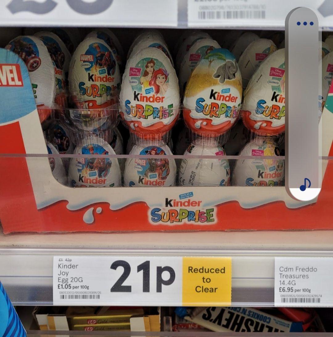Kinder Joy Egg 21p at Liverpool Tesco Express