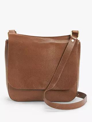 John Lewis & Partners Large Leather Messenger Bag, Tan £35.70 at John Lewis