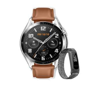 Huawei Watch GT2 46mm Pebble Brown Smartwatch + Free Band 4e Fitness Tracker - £109.99 With Code (£101.99 Students) @ Huawei Store UK