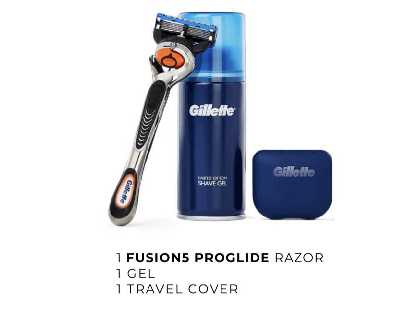 Gillette Fusion Proglide Razor starter Kit £3.95 @ Gillette