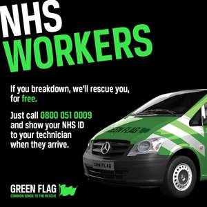 Free Breakdown Cover for NHS staff @ Green Flag