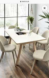 Next White 6 Seater Storage Dining Table £120 + £8 delivery @ Next