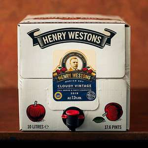 Henry Westons 10L box £26.50 7.3% (free shipping) @ Westerns cider