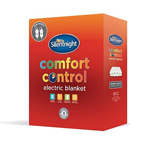Silentnight Dual Control Electric Blanket, Polyester, White, Double - £31.99 @ Amazon