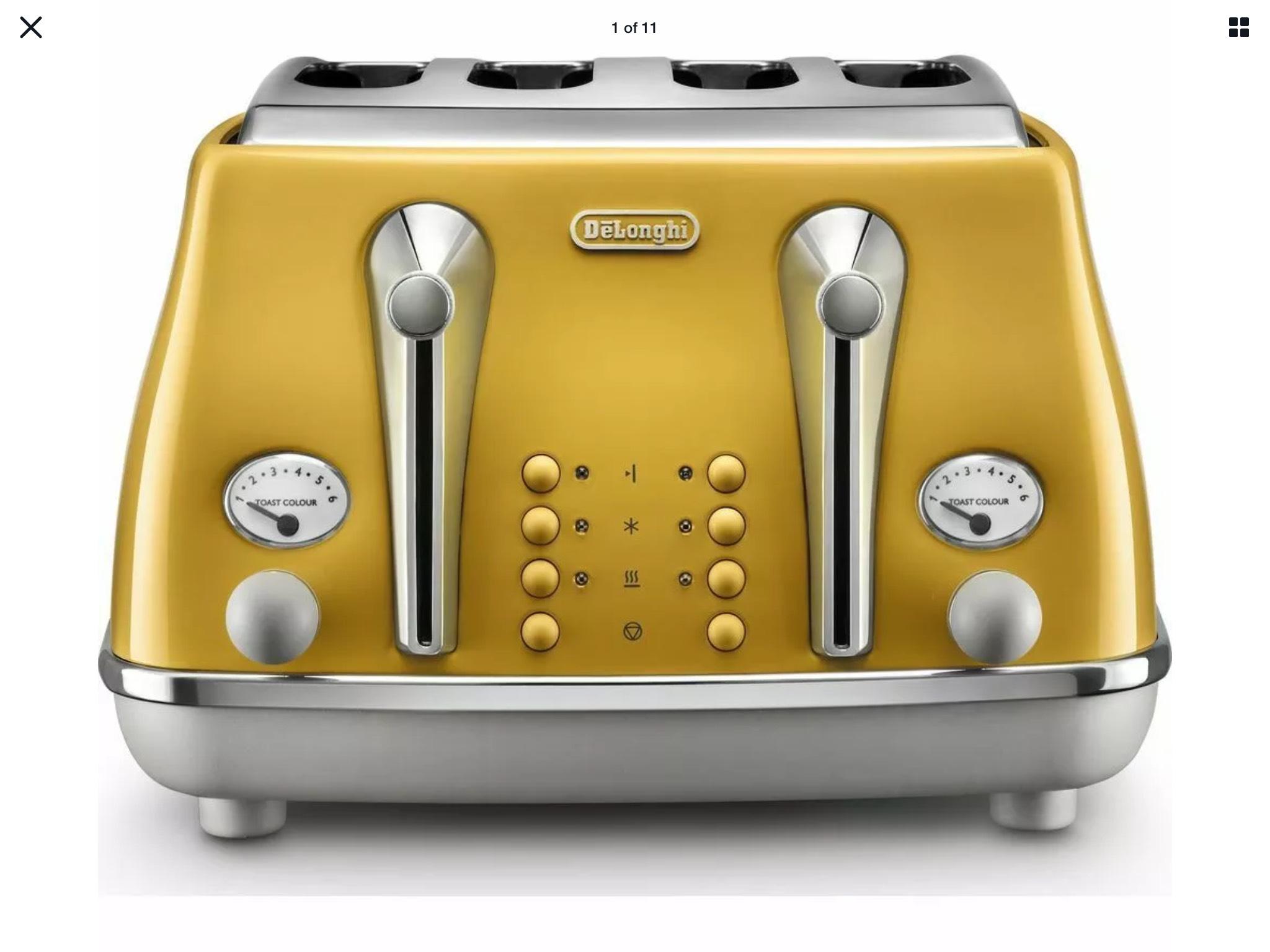 Delonghi Icona 4 slice toaster £49.99 certain colours @ Curry's ebay