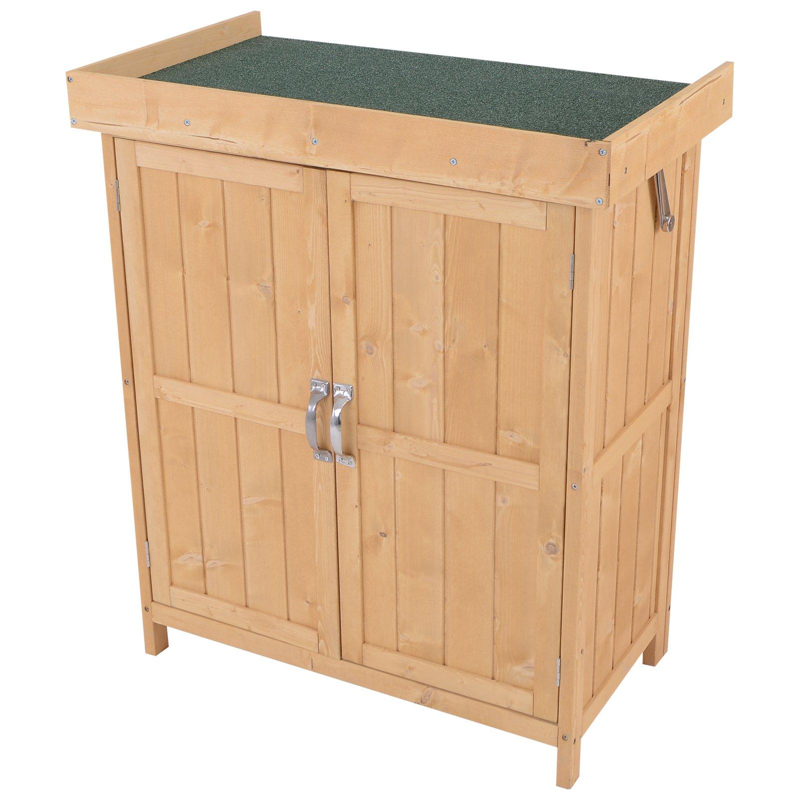 Outsunny 1.4 x 2.4ft Mini Garden Storage Cabinet £84.59 (UK Mainland) @ AOSOM (use code)