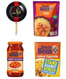 Get a 28cm Non-Stick Wok + 3 Uncle Bens Rice or Sauce - £5 (Min Spend / Delivery Fee Applies) @ Iceland