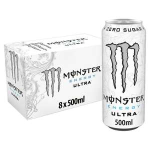 Monster Energy Ultra 8x500ml Clubcard price £6.25 (Min Spend / Delivery Charge Applies) @ Tesco