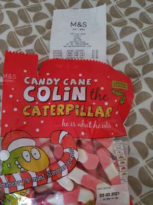 Colin The Catepillar Candy Cane Sweets 20p at Marks & Spencer Ilford