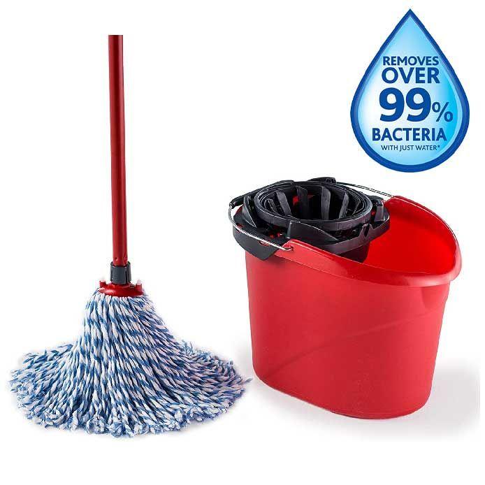 Vileda SuperMocio Microfibre and Cotton Mop and Bucket Set - £12 / (+£4.49 Non Prime) delivered @ Amazon