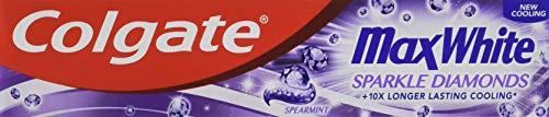 Colgate Max White Sparkle Diamonds Toothpaste, Spearmint, 75 ml £1 (+£4.49 NP) Delivered @ Amazon