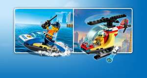 Free LEGO City 30567 Police Water Scooter or 30566 Fire Helicopter with code with purchases over £40 @ LEGO Shop (more offers in post)