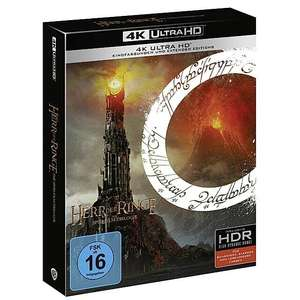 The Lord of the Rings Trilogy Theatrical & Extended Edition 4K Ultra HD £58.66 / The Hobbit Trilogy 4K UHD £56.72 delivered @ Amazon Germany