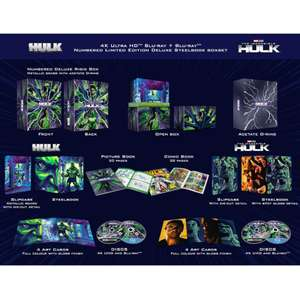 The Hulk and The Incredible Hulk in 4K with Steel Books, comic, picture book and art cards £49.98 delivered at Zavvi