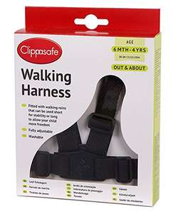 Clippasafe Walking Harness and Reins (Black) £3.88 (Prime) + £4.49 (non Prime) at Amazon