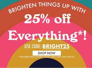 25% off All Full priced clothing with voucher code @ Joanie clothing