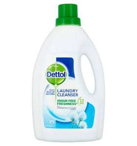 Dettol Antibacterial Laundry Cleanser Fresh Cotton 1.5L £2.95 (+ Delivery Charge / Minimum Spend Applies) at Asda