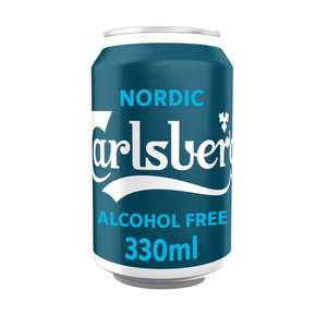 Carlsberg alcohol free nordic pilsner 330ml can 29p @ home bargains prenton / wirral