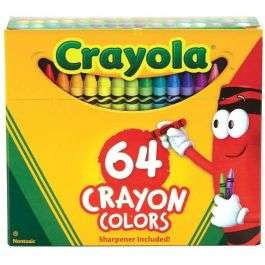 Crayola 64 Crayons Pack with sharpener for £6 (including free mainland UK delivery) @ BargainMax