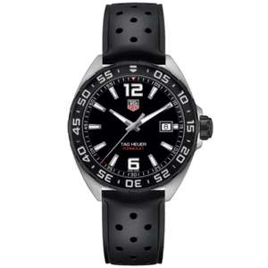 TAG HEUER Formula 1 Gents Black Rubber Strap Watch £760 @ Shannons Jewellers